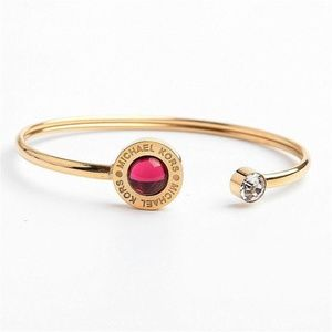 Michael Kors Gold Garnet Mother-of-Pearl Bracelet
